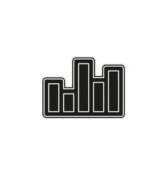 bar chart business graph data growth diagram vector image