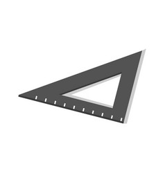 black angle school ruler icon isometric style vector image