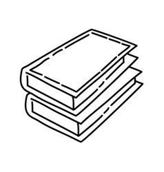 books icon doodle hand drawn or outline icon style vector image