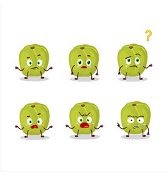 Cartoon character amla with what expression vector