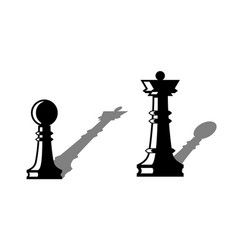 chess figures leadership concept vector image
