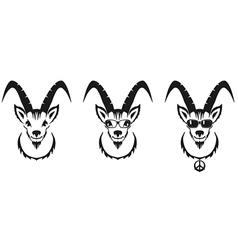 Chinese symbol goat image desi vector image