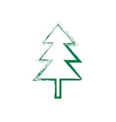 Christmas tree grunge silhouette vector image