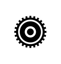clock gear cogwheel flat icon vector image