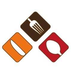 Colorful cutlery icon image design vector