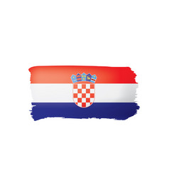 croatia flag on a white vector image