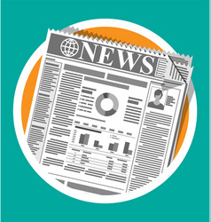 Daily newspaper in black and white vector