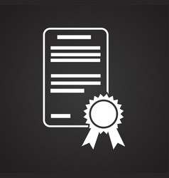 Diploma on black background vector