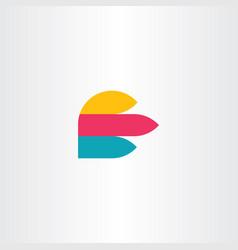 e logo icon letter sign symbol element vector image