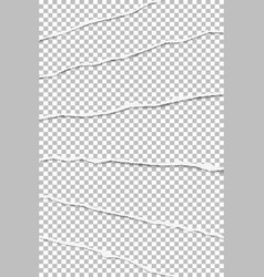 elongated layers torn transparent paper vector image