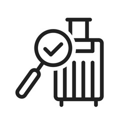Find luggage vector