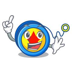 Finger yoyo mascot cartoon style vector