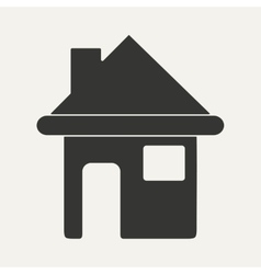 Flat in black and white mobile application house vector