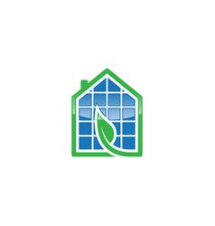 flat solar house vector image