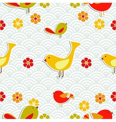 Fresh floral season pattern vector image