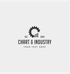 Gear chart logo design industrial accounting icon vector