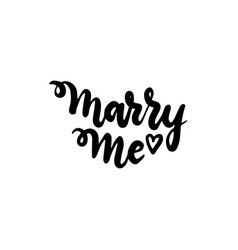 handwritten lettering marry me vector image