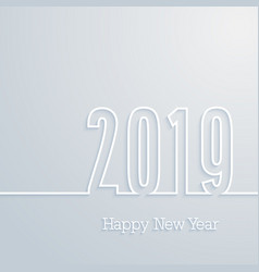 happy new year 2019 paper postcard vector image