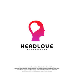 Head love logo head intelligence logo designs vector