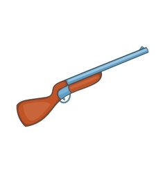 Hunting shotgun icon cartoon style vector image