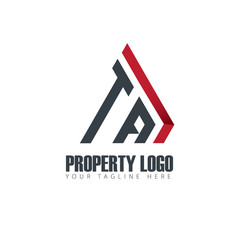 Initial letter ta property design logo vector