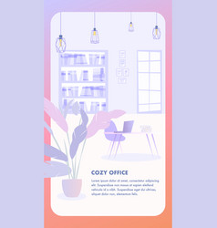 interior cozy office business company vector image