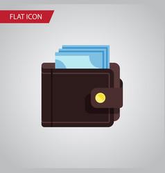 isolated saving flat icon billfold element vector image