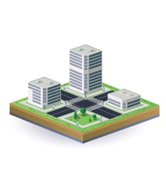Isometric image of the city vector image vector image