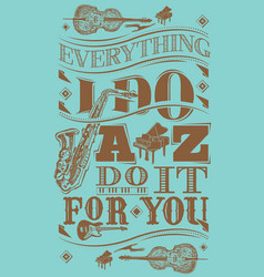 Jazz music artwork and poster vector