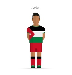 Jordan football player Soccer uniform vector