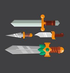 knife weapon dangerous metallic sword vector image vector image