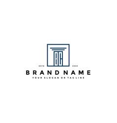 Letter bc law logo design vector