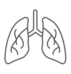 lungs thin line icon biology and body organ sign vector image