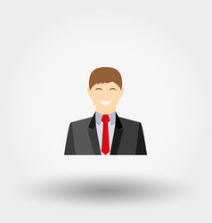man in business suit icon vector image vector image