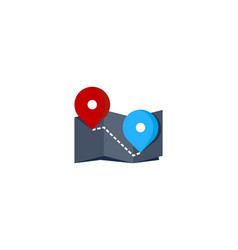 map route logo icon design vector image