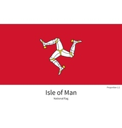 National flag Isle of Man with correct proportions vector image