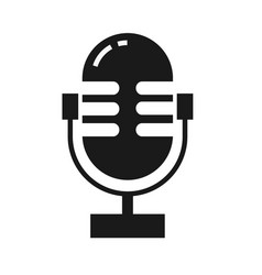 old microphone icon isolated vector image