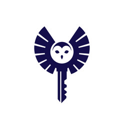 owl with key logo vector image