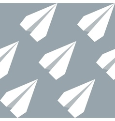 Paper Planes Seamless Pattern Repeating abstract vector image