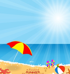 Paradise summer enjoy your trip holidays vector