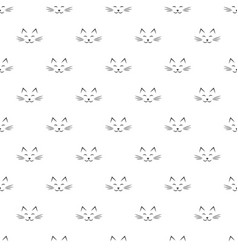 pattern with cat face icons vector image
