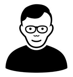 Pensioner Flat Icon vector