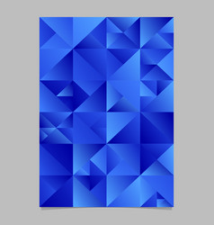 polygonal triangle page template - abstract blue vector image
