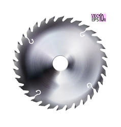 Realistic electric saw disc circular blade metal vector
