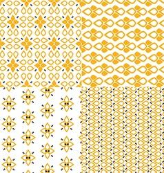 Retro patterns set vector