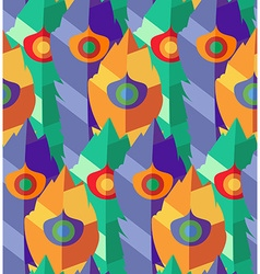 Seamless pattern with hand-drawn flat colorful vector image vector image