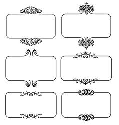 set calligraphic frames vector image
