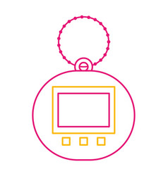 toy for children electronic pet tamagotchi retro vector image