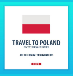 Travel to poland discover and explore new vector
