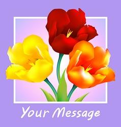 Tulip flower design background vector